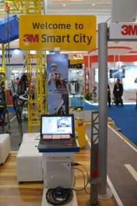 Booth 3M smart city Dalam pameran Indonesia Infrastructure Week 2016 di Jakarta Convention Centre (JCC) pada 9-11 November 2016. /foto 3M