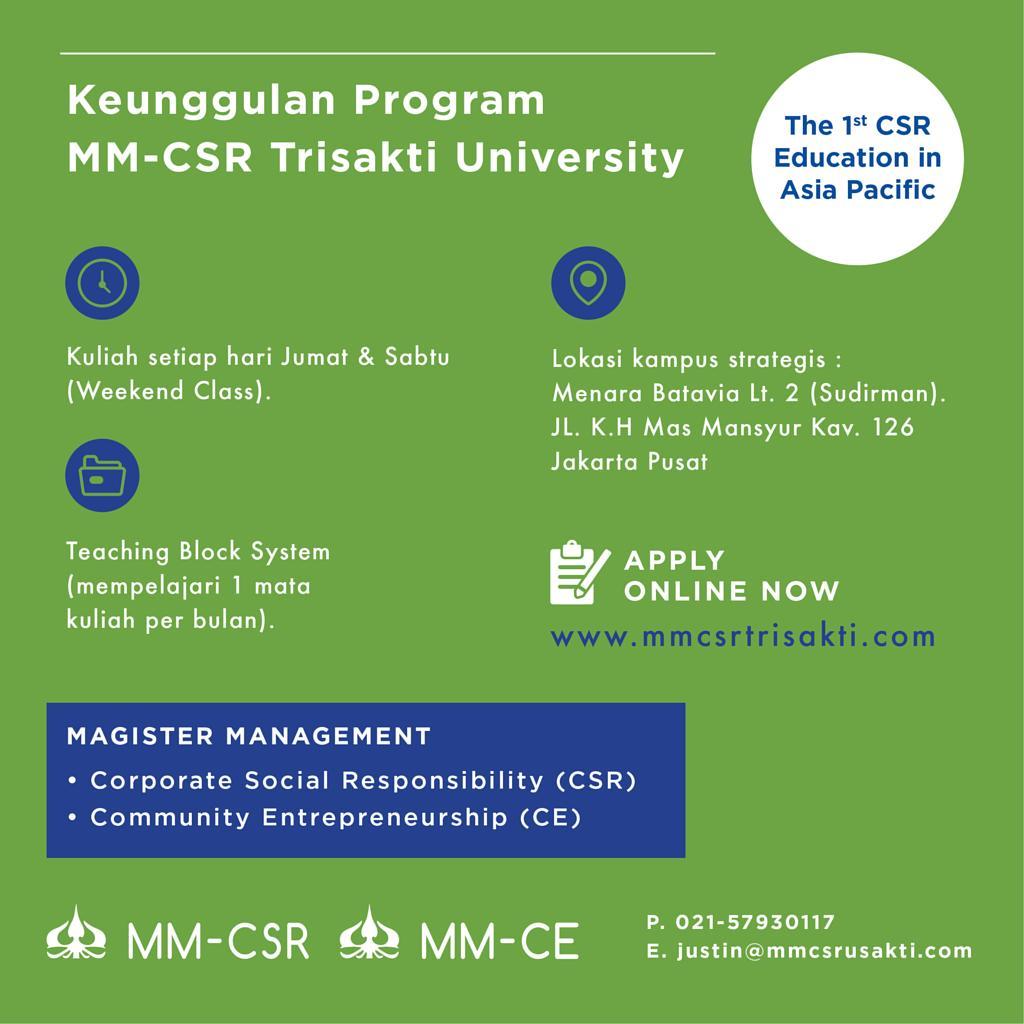 Keunggulan Kuliah di MM-CSR & MM-CE Universitas Trisakti