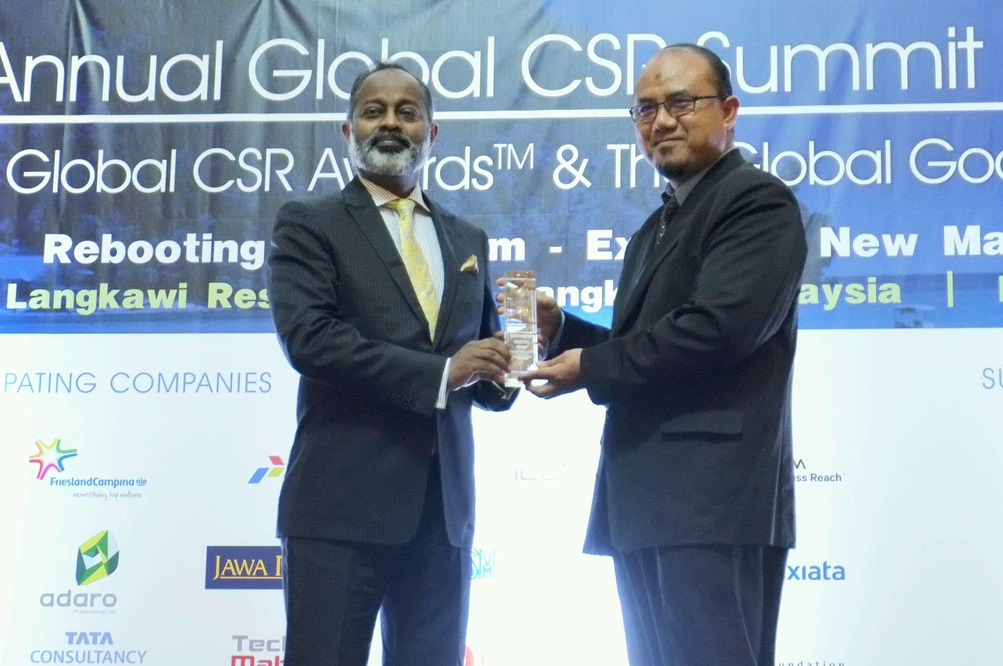 Perusahaan Top Raih The 9th Annual Global CSR Summit & Awards di Langkawi