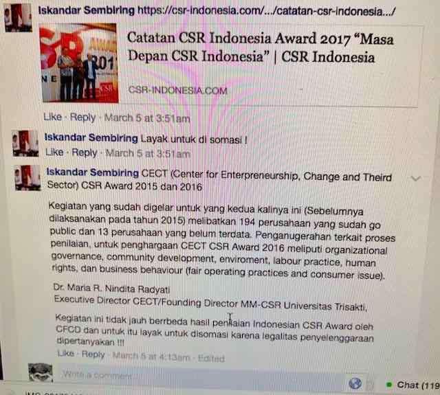 CSR INDONESIA AKAN DISOMASI…Hmmm Ada yang Tak Beres di Award Mereka….